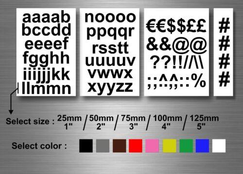 kit lettere adesivi sticker moto auto colore alteza a scelta auto vetrine r2
