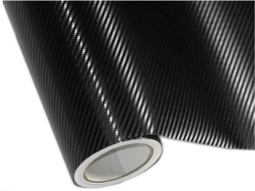 3D Film de Carbone Noir Pour Citroen Capot 200cm x 152cm Avec Conduits D/'Air
