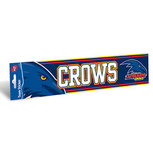 Adelaide Crows AFL Team Logo Bumper Sticker 305mm x 75mm Car Man Cave Bar Gift