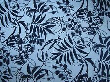 "RALPH LAUREN CURTAIN FABRIC ""Westinghouse Floral"" 3.6 METRES DRESS WHITE (NAVY)"