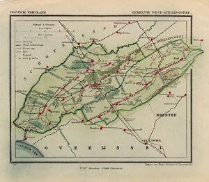 ANTIQUE MAP-HOLLAND-WEST-STELLINGWERF-FRIESLAND-KUYPER-1865 | eBay on