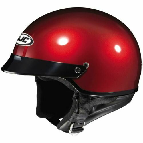 Wine All Sizes HJC CS-2N Metallic Half Helmet