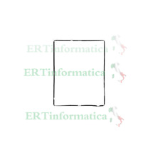 CORNICE FRAME TOUCH SCREEN VETRO IPAD 2 3 4 NERO