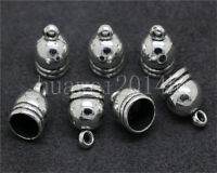 20pcs Charms Bead End Cap Stopper Fit 7.5mm Cord Leather Crafts Necklace