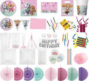 Kinder-Geburtstag-Party-Deko-Feier-Fete-Motto-Paw-Patrol-Skye-amp-Everest