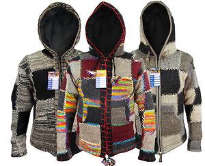 Patchwork-Hippie-Boho-Knitted-Himalayan-Woolen-Winter-Nepalese-Hoodies-Jackets