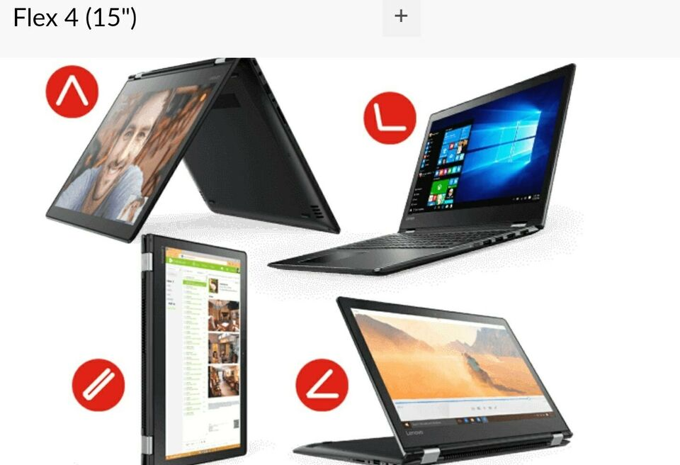 Lenovo Flex 15 Touch, i5-4200U GHz, 8 GB ram