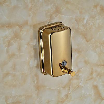 Bathroom Wall Mouned Golden Soap Dispenser Stainless Steel 800ml Free Shipping