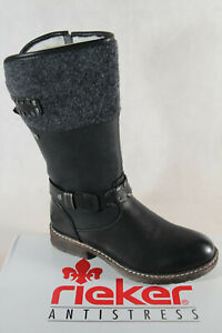 Details about Rieker Ladies Tex Ankle Boots Winter Boots Black 93158 New