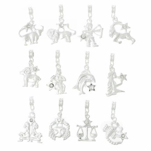 Escorpión estrella caracteres círculo charm remolque remolque cadenas artísticos joyas