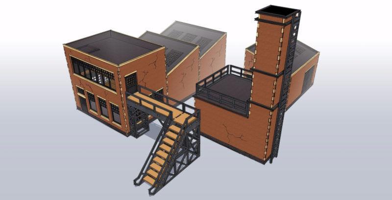 Industrial Factory Bundle mm Laser cut MDF kit I009