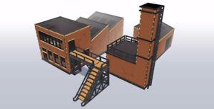Lot usine industrielle # 1 Kit de mdf découpé au laser 28mm I009