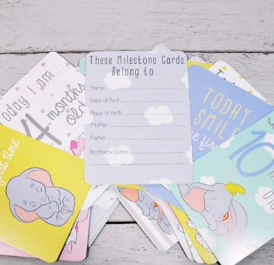 Disney Baby Magical Beginnings New Baby Milestone Cards Baby Shower Gift