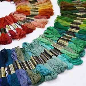 Hot-Lots-36-50-Cotton-Cross-Floss-Stitch-Thread-Embroidery-Sewing-Skeins-EA7Z