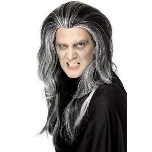 Image Is Loading Men 039 S Vampire Wig Black Long Amp