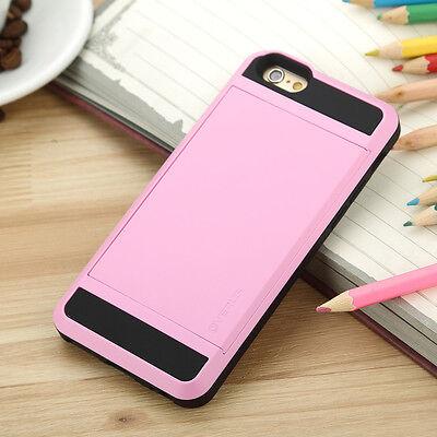 Hybrid Slim Card pocket Wallet Back Cover Case For Apple IPhone 6 6 Plus 5S 5