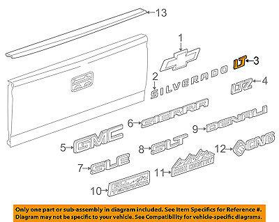 GM OEM Bed Fender-Emblem Badge Nameplate 15129652