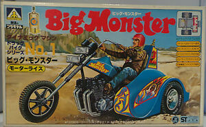 MOTOR-BIKES-BIG-MONSTER-MODEL-KIT-MADE-BY-AOSHIMA-CIRCA-1980-039-s-WE-THINK