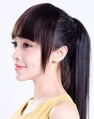 Lady Charming Front Fringe  Clip On Bangs 100% Human remy Hair extension