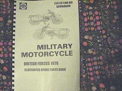 Can am Bombardier military motorcycle front brake cable