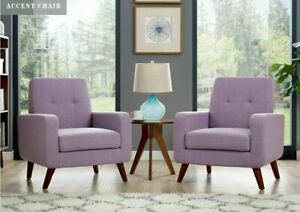 Arm-Chair-Accent-Single-Sofa-Linen-Fabric-Comfy-Upholstered-Room-Furniture