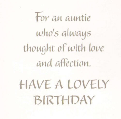 traditional auntie happy birthday card 11 x cards to choose from!