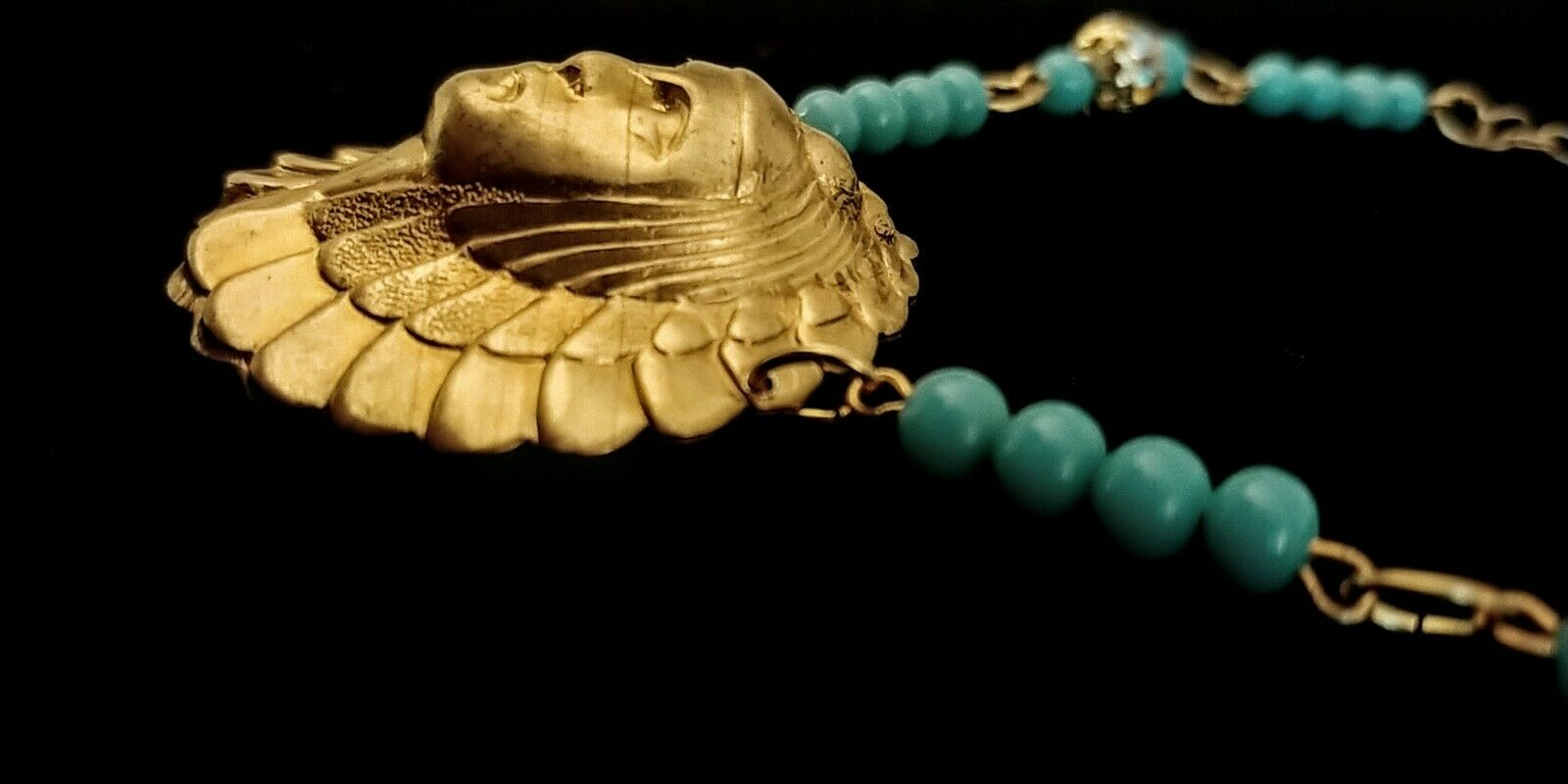 Vintage Egyptian Revival Necklace - image 9