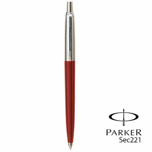 BLUE RED with BLACK or BLUE INK GENUINE PARKER JOTTER BALLPOINT PEN in BLACK