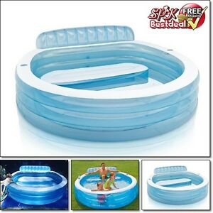 Large Family Inflatable Swimming Pool Center Water Kids Play Fun Backyard Summer