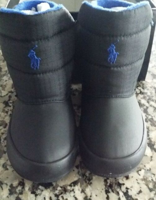 92aa49254 Polo Ralph Lauren Black Gabriel Toddler Boys BOOTS Size 6 for sale ...