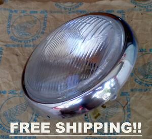 "Honda XL100 XL125 XL175 XL250 XL350 MT125 6/"" Headlight 6 V Rim Ring Case"