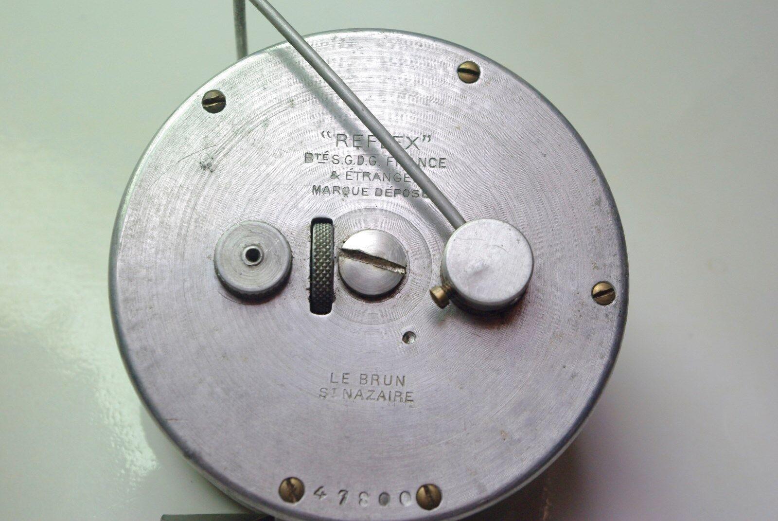 Rare moulinet REFLEX n°0 de 1924  nom du revendeur reel rolle mulinello carrete