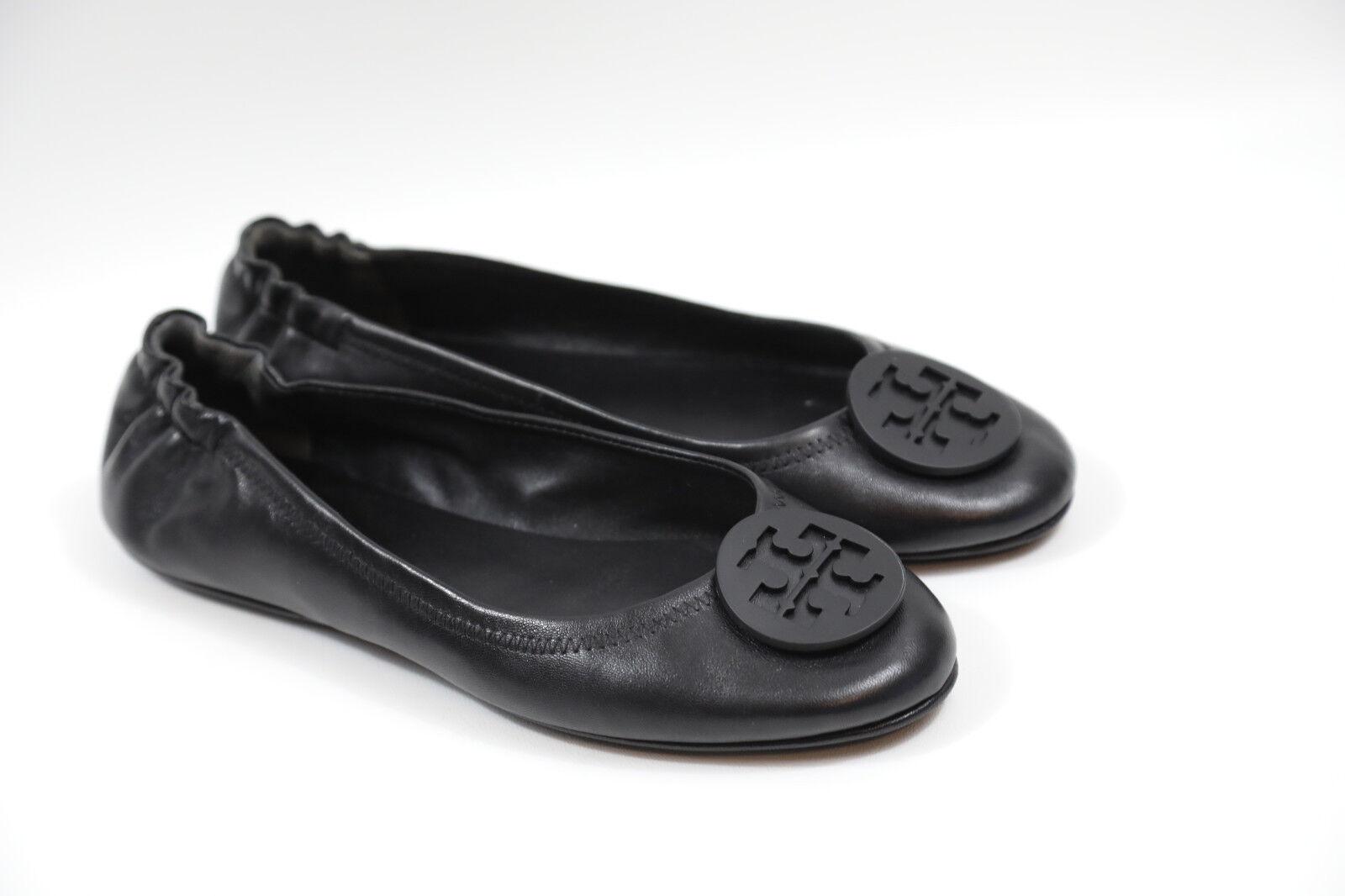15 Tory Burch 'Minnie' Negro Viaje Zapatos Ballerina Zapatos Zapatos Zapatos de tacón cuero talla 8.5  228 venta al por menor  mejor vendido