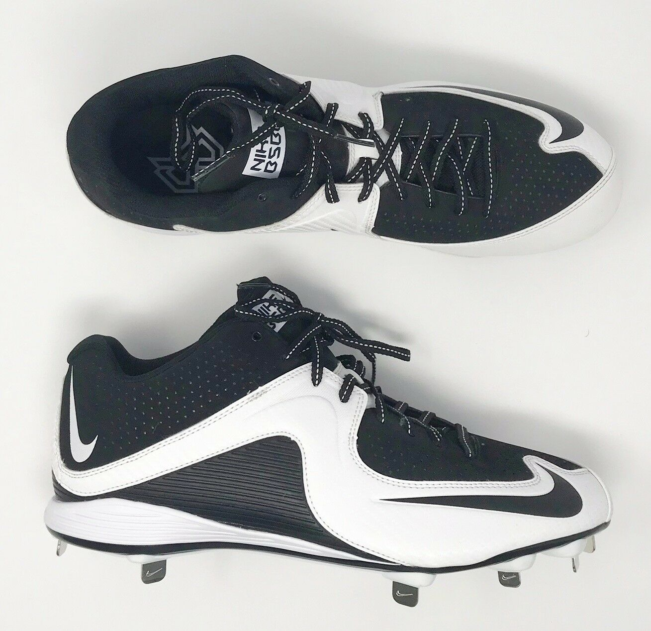 Nike BSBL Strike MVP Men's US Size 14 Baseball/Softball Black Cleats Shoes #S1