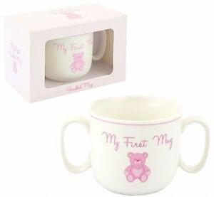 Baby Girl Mon premier Traité Mug Rose-afficher le titre d`origine
