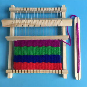 Wooden-Weaving-Loom-Craft-Yarn-DIY-Hand-Knitting-Machine-Kids-Educational-T-Gc