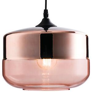 Lámpara Tintado Pantalla de – Techo Round Detalles Colgante Cobre Retro – Cristal de Brillo tsdQxChr
