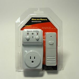 Wireless Remote Control Outlet 1 Pack AC Power Light ...
