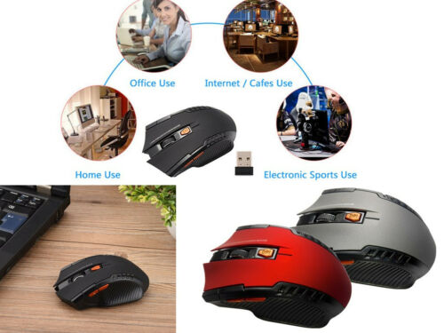 2.4GHz 6D 1600DPI USB Wireless Optical Gaming Mouse Mice For Laptop//Desktop//PC