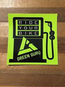 Green Guru Bicycle Cycling Sticker Decal