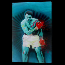 Muhammad Ali Oil Painting 28x16 NOT print or poster Framing Avail Boxing Foreman