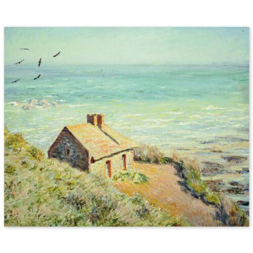Das Zollhäuschen im Morgenlicht Claude Monet Poster