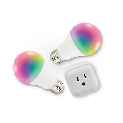 Bright Colour-Changing Smart Wi-Fi LED Blubs & Plug Kit