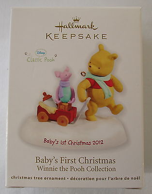 Hallmark 2012 Disney Baby's First Christmas Classic Pooh Christmas Ornament
