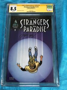 Strangers-in-Paradise-v3-9-Abstract-CGC-SS-8-5-Signed-by-Terry-Moore