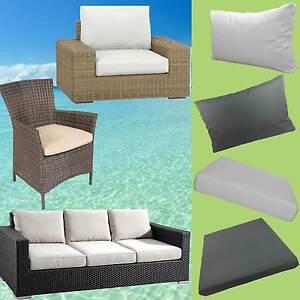 gartenm bel auflagen polster sitzkissen sitzpolster kissen rattan lounge stuhl ebay. Black Bedroom Furniture Sets. Home Design Ideas