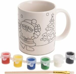 Paint Your Own Christmas Mug Xmas Craft