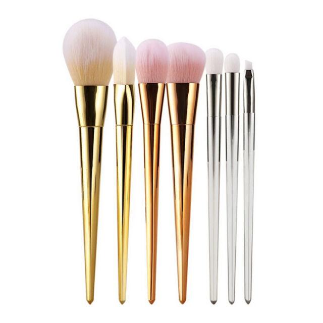 New 7Pcs Pro Brushes Powder Foundation Cosmetic Makeup Brush Set Make up Tools
