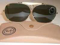 1960s Vintage Bausch & Lomb Ray Ban 10k Gf Decot Shooting Aviator Sunglasses