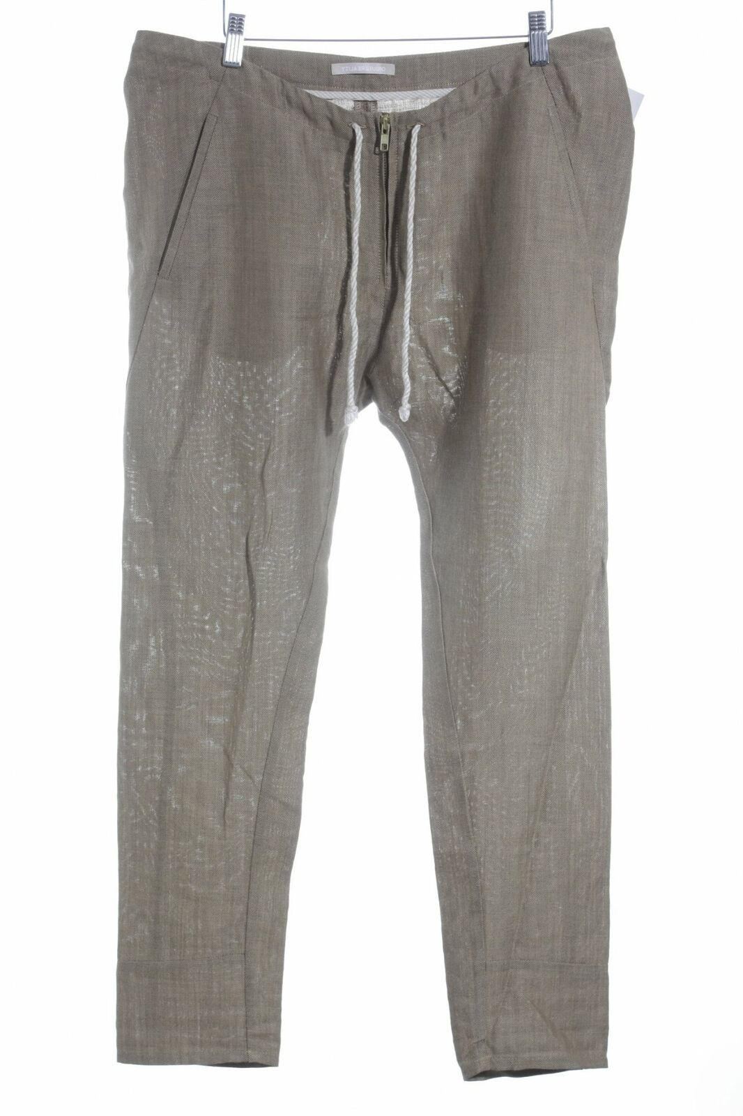 Reality studio Tessuto Pantaloni Sabbia Marronee Casual-look da donna tg. de 40 Pantaloni Trousers